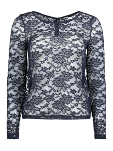 Only T-shirt onlMERLE L/S PLACKET ONECK  TOP JRS 15125863 Night Sky