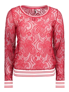 Only T-shirt onlZUSSIE L/S SPORT LACE TOP ESS 15134498 Jester Red