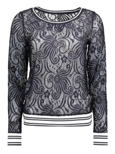 Only T-shirt onlZUSSIE L/S SPORT LACE TOP ESS 15134498 Night Sky