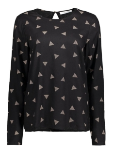 Vila T-shirt VIPRINT L/S TOP 14041179 Black