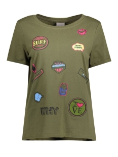 Vero Moda T-shirt VMWILLY PATCH S/S T-SHIRT BOX NFS 10177798 Ivy Green/Patches