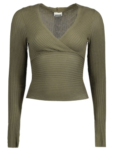 Noisy may Trui NMLOOK L/S KNIT TOP X - REP. 10165632 Ivy Green