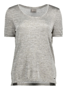 Vero Moda T-shirt VMEVA S/S TOP JRS A 10166646 Light Grey Mela/W. Foil