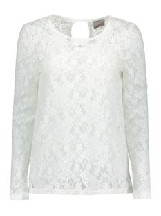 Vero Moda T-shirt VMAMAZE LS BACK TOP JRS A 10171536 Snow White
