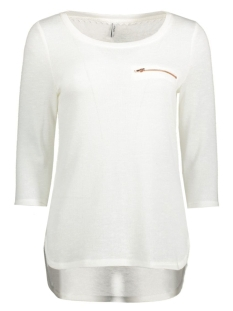 Only Trui onlSOLA 3/4 ZIP TOP ESS RP1 15136680 Cloud Dancer
