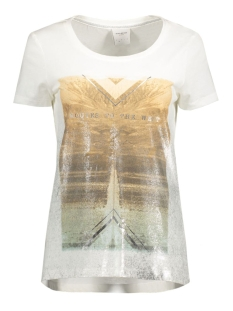 Vero Moda T-shirt VMWEST SS TOP BOX DNM JRS 10166956 Snow White