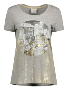 Vero Moda T-shirt VMWEST SS TOP BOX DNM JRS 10166956 Light grey Melange