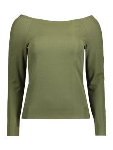 Vero Moda T-shirt VMINFI BOAT L/S TOP FF 10176690 Ivy Green