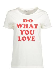 Only T-shirt onlCOTTON S/S REGULAR PRINT TOP BOX 15129033 Cloud Dancer/Do What