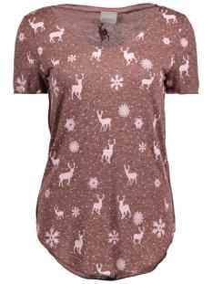 Vero Moda T-shirt VMLUA SS TOP COLOR 10165465 Chocol/Reindeers