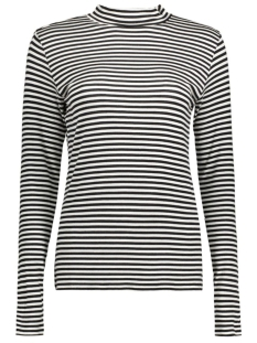 Jacqueline de Yong T-shirt JDYSPIRIT L/S STRIPE ROLLNECK JRS 15129270 Cloud Dancer/Black