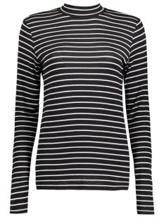 Jacqueline de Yong T-shirt JDYSPIRIT L/S STRIPE ROLLNECK JRS 15129270 Black/Cloud Dancer