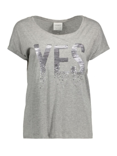 Vero Moda T-shirt VMGOTHIC S/S T-SHIRT BOX D2-1 10171915 Light Grey Melange/Yes