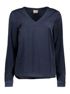 VMSERENA L/S V-NECK TOP 10170737 Navy Blazer