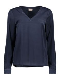 Vero Moda Blouse VMSERENA L/S V-NECK TOP 10170737 Navy Blazer