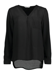Only Blouse stuBAILEY L/S V-NECK SHIRT 15133054 Black