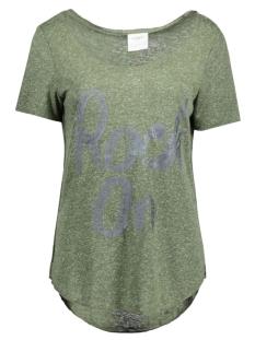 Vero Moda T-shirt VMLUA FOIL PRINT SS TOP BOX DNM JR 10170676 Kombu Green