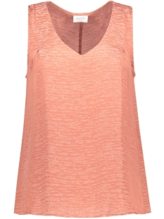 Vila Top VIMELLI S/L DETAIL TANK TOP GV 14039097 Brick Dust