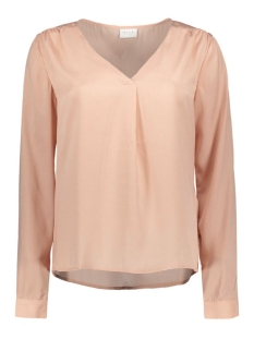 Vila Blouse VIMELLI L/S NEW TOP-NOOS 14036767 Rugby Tan/Dots