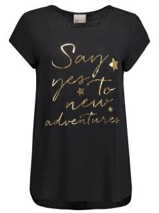 Vero Moda T-shirt VMBOCA SS BLOUSE PRINTED 10128072 black