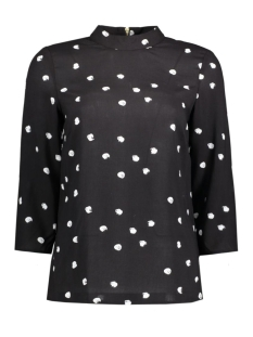 Vero Moda Blouse VMDOTSIE HIGHNECK 3/4 TOP BOX NFS 10176053 Black/Dots