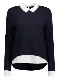 Only Trui onlCARMEN L/S MIX TOP BOX ESS 15129006 Night Sky