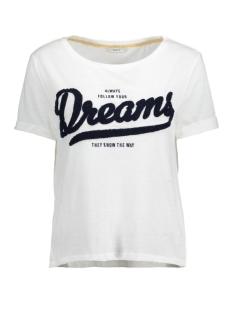 Only T-shirt onlTINA S/S DREAMS/PERFECT TOP BOX 15129113 Cloud Dancer