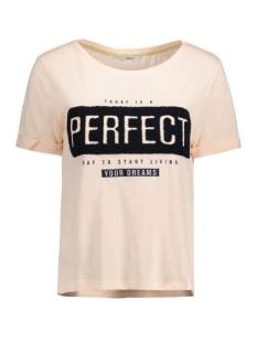 Only T-shirt onlTINA S/S DREAMS/PERFECT TOP BOX 15129113 Peachy Keen