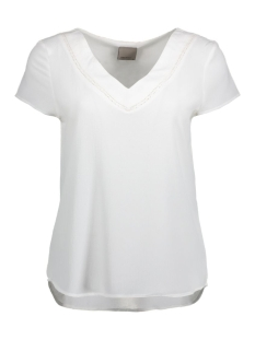 Vero Moda T-shirt VMJUSTINA CAP SLEEVE MEDI TOP 10166649 Snow white