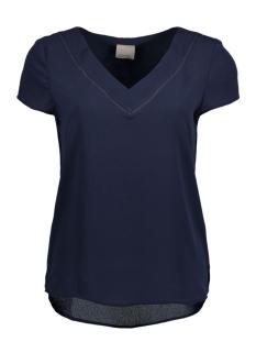 Vero Moda T-shirt VMJUSTINA CAP SLEEVE MEDI TOP 10166649 Navy Blazer