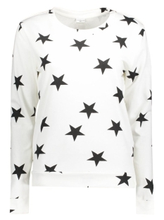 Jacqueline de Yong Sweater JDYNAOMI L/S PULLOVER JRS 15127278 Cloud Dancer/Black Star
