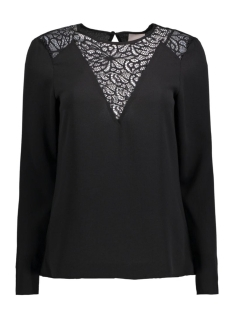 Vero Moda Blouse VMKELLY L/S LACE TOP BOO 10167021 Black