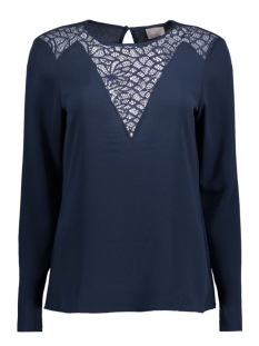 Vero Moda Blouse VMKELLY L/S LACE TOP BOO 10167021 Navy Blazer