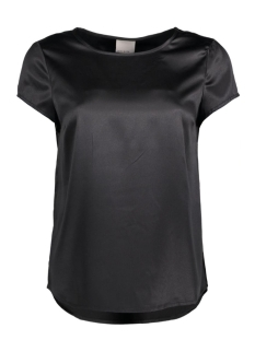 VMIVALU SATIN CAPSLEEVE MIDI TOP 10165965 Black/Solid