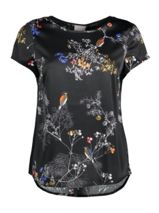 Vero Moda T-shirt VMIVALU SATIN CAPSLEEVE MIDI TOP A 10165965 Black/Valu Print