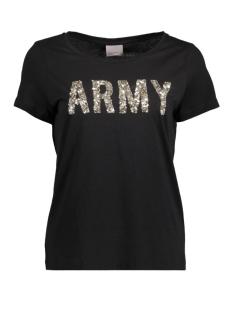 Vero Moda T-shirt VMARMY PRINT S/S T-SHIRT NFS 10179346 Black/Sequin