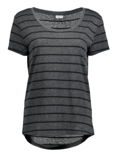 Jacqueline de Yong T-shirt JDYCOAST S/S STRIPE TOP JRS 15127261 Dark Grey Melan/Black