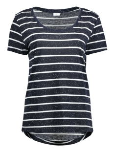 Jacqueline de Yong T-shirt JDYCOAST S/S STRIPE TOP JRS 15127261 Night Sky/Cloud Dancer