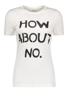 Only T-shirt onlHOW ABOUT S/S T-SHIRT BOX JRS 15135867 Cloud Dancer