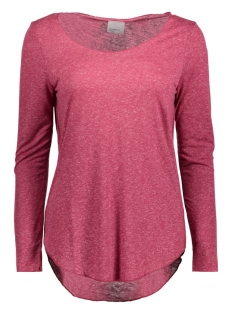 Vero Moda T-shirt VMLUA LS TOP NOOS 10158658 Beet Red