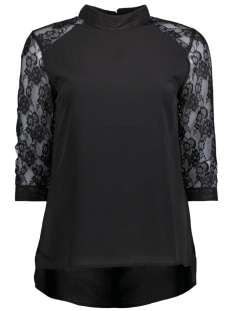Object T-shirt OBJCAM 34 HIGHNECK TOP .I 23024288 Black