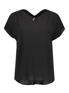 Only T-shirt stuVIVA SS V-NECK TOP NOOS 15133055 Black