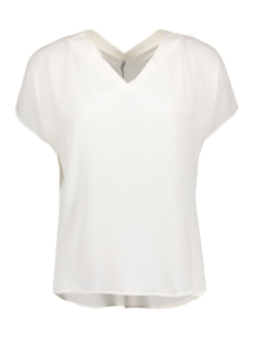 Only T-shirt stuVIVA SS V-NECK TOP NOOS 15133055 Cloud Dancer