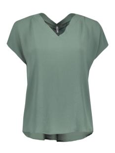 Only T-shirt stuVIVA SS V-NECK TOP NOOS 15133055 Balsam Green