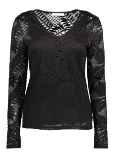 Vila T-shirt VILACA L/S V-NECK TOP 14040857 Black