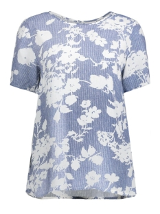 Vila T-shirt VITILAS S/S TOP 14040140 Estate Blue