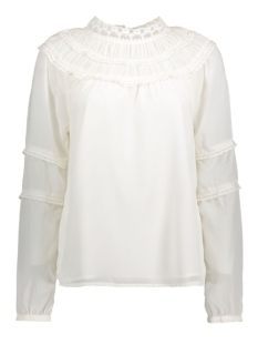 Vila Blouse VIADELAS L/S TOP GV 14040165 Cloud Dancer