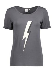 Object T-shirt OBJSTAR S/S TOP 23024898 Asphalt