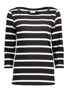 Vila T-shirt VISTRIPED 3/4 SLEEVE TOP-NOOS 14039631 Black