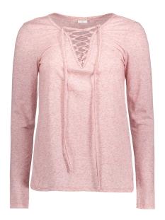 Jacqueline de Yong T-shirt JDYZADA L/S LACE TOP JRS 15127312 Woodrose